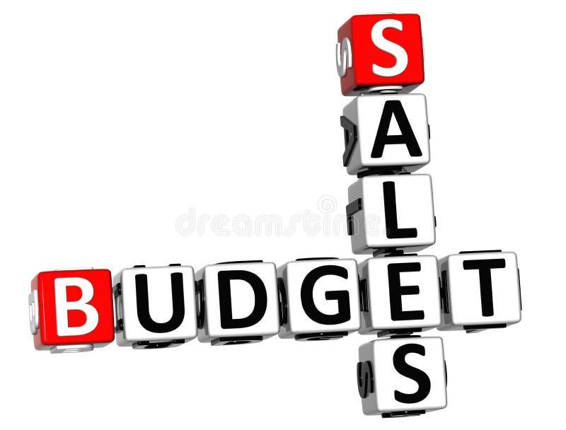 3D销售预算纵横填字谜 图库摄影