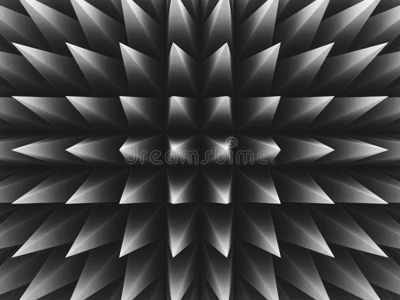 3d锋利的三角透视样式 向量例证
