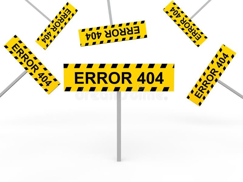 3d错误404标志 库存例证