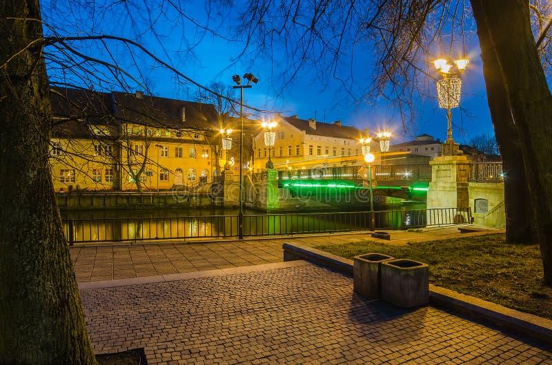 D镇在克莱佩达(立陶宛) 免版税库存照片