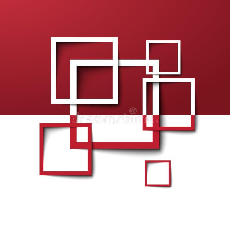 3d长方形设计模板 向量例证