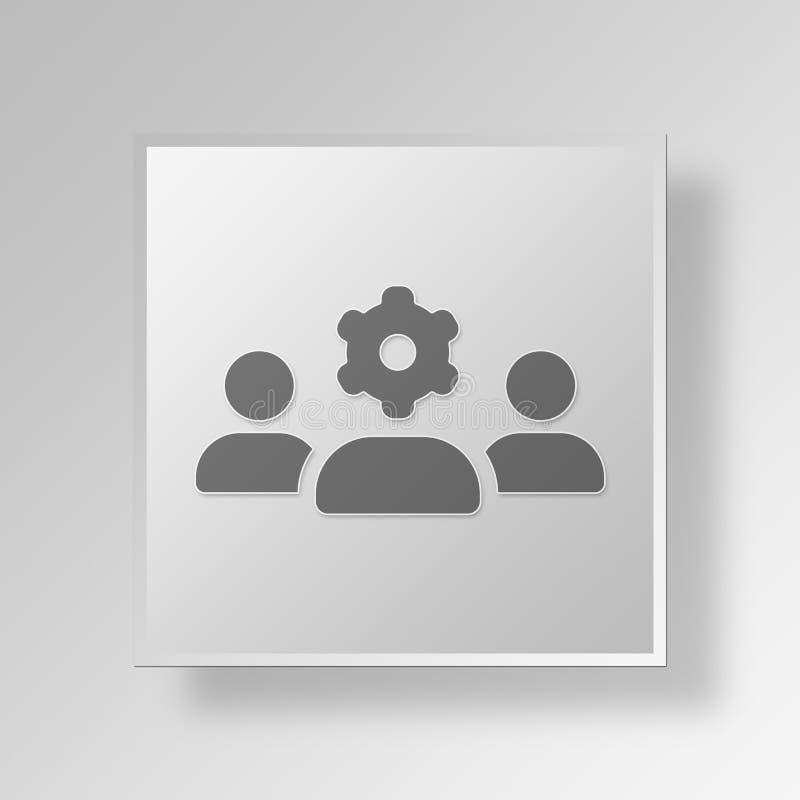 3D队工作象企业概念 皇族释放例证