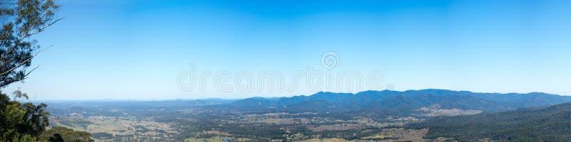 D阿吉拉尔范围布里斯班澳大利亚全景 免版税库存照片