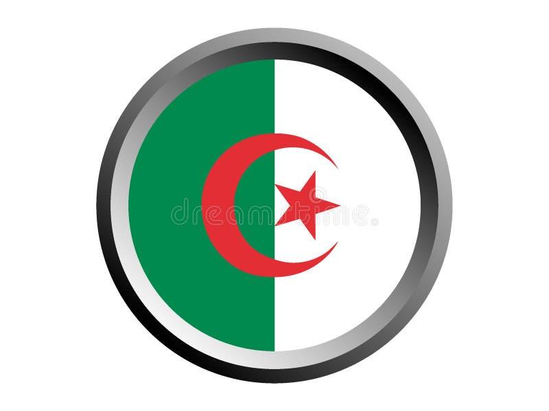 3D阿尔及利亚的回合旗子 皇族释放例证