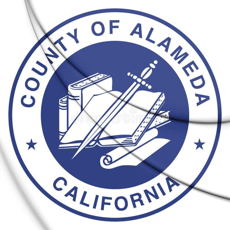 3D阿拉米达县加利福尼亚,美国封印  皇族释放例证