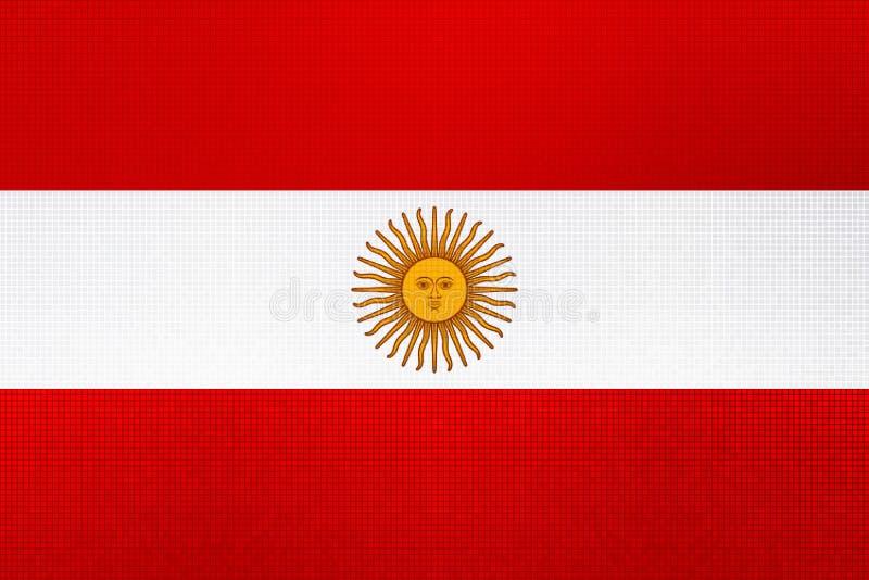 3D阿根廷比索货币的翻译在红色 向量例证