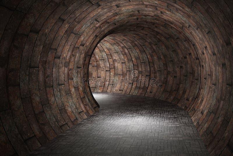 3D隧道 向量例证