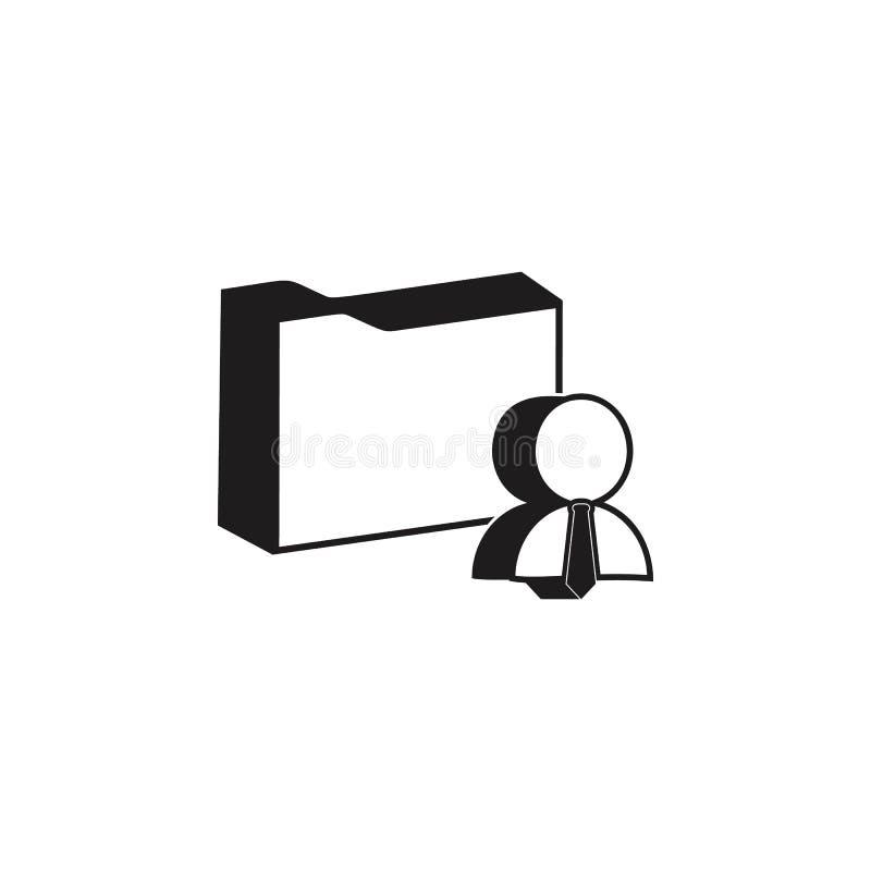 3d雇员文件象文件夹  顶头狩猎和雇员象详细的象  优质质量图形设计 一  库存例证