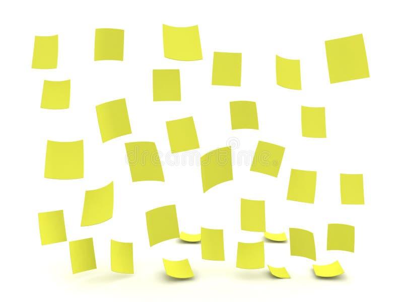 3D雨的例证组成在黄色柱子稠粘没有外面 皇族释放例证