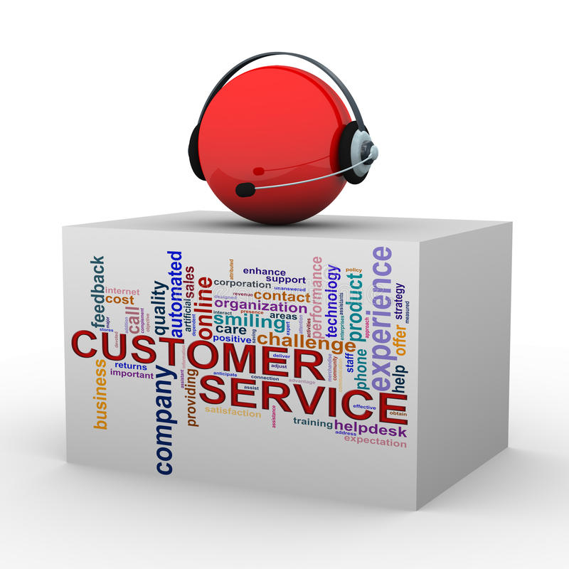 3d顾客帮助和支持 向量例证