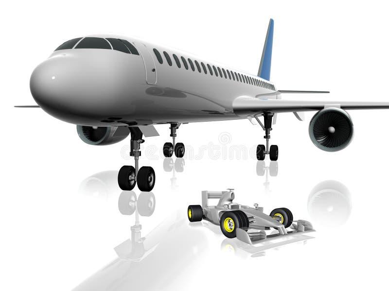 3d飞机 库存例证