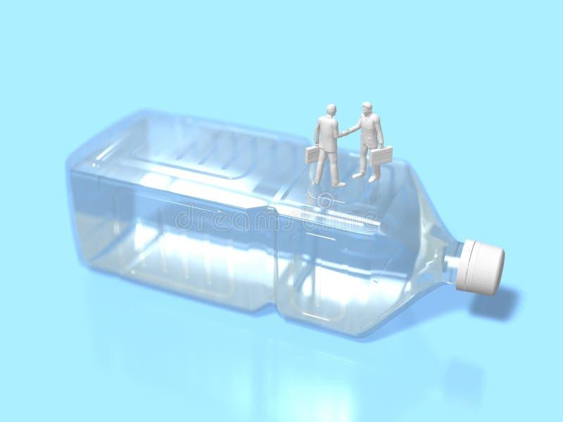 3D饮用水巩固的例证 向量例证