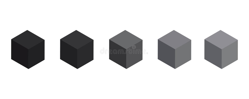 3d黑色立方体 黑匣子 您的图形设计的传染媒介 皇族释放例证