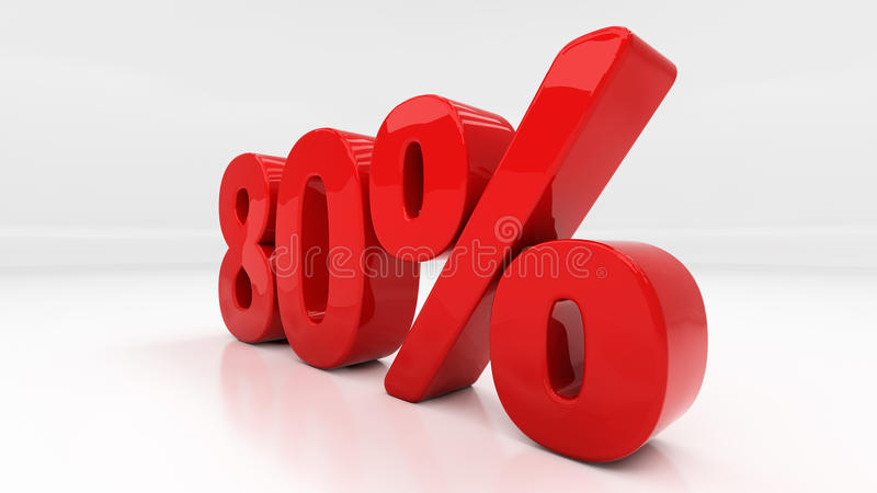 3D åttio procent arkivfoton