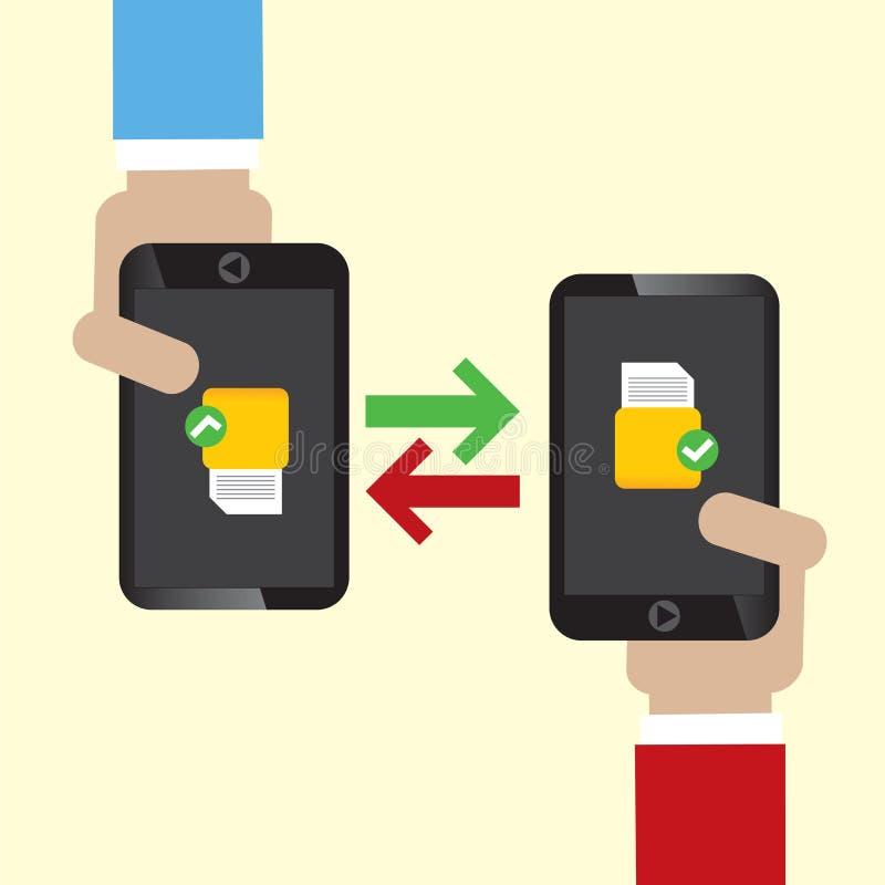 D'échange de données sur le mobile. illustration libre de droits