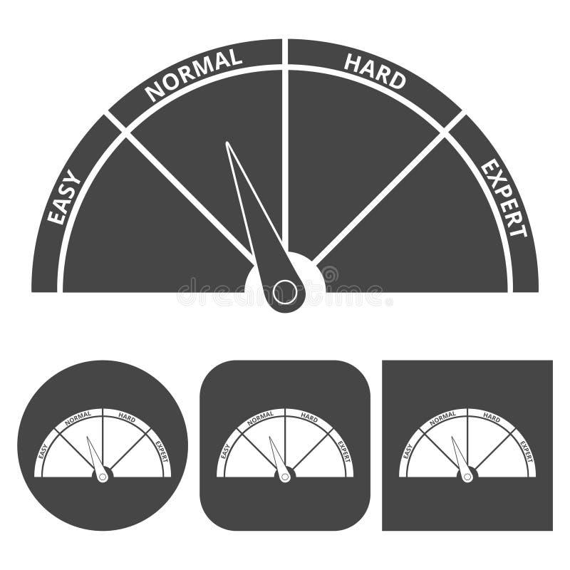 D'échelle d'icône icônes dur - réglées illustration de vecteur