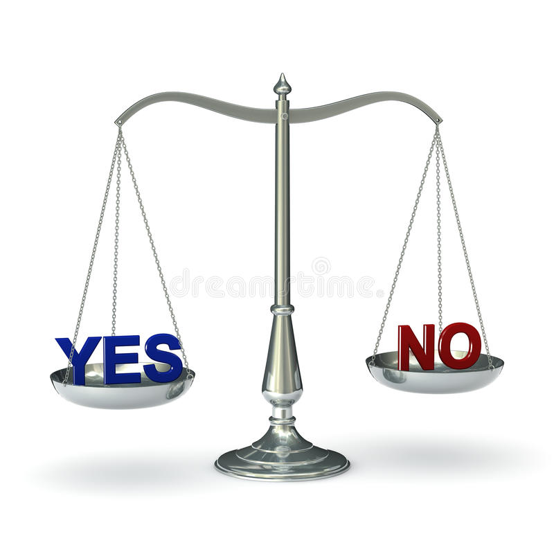 D'échelles No. oui illustration libre de droits