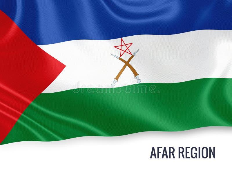 D'état drapeau éthiopien de région loin illustration libre de droits