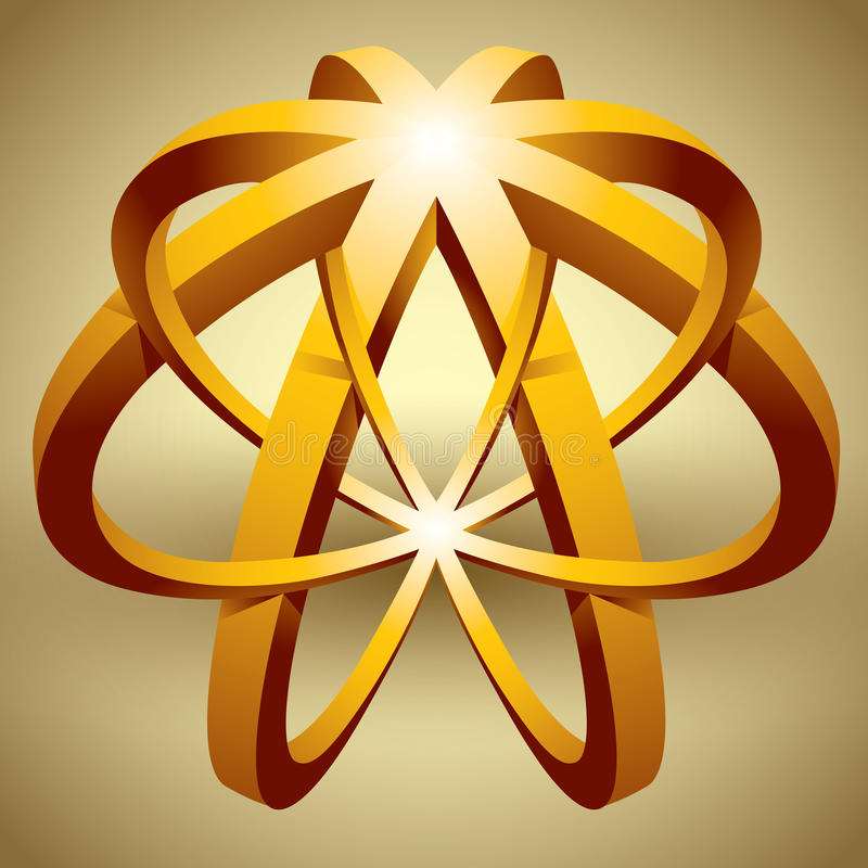 3d ícone abstrato, forma impossível ilustração royalty free