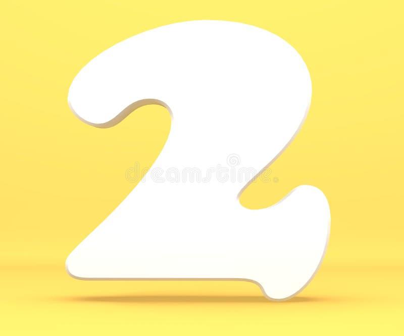 3d закрепляя легкую редактируя иллюстрацию архива включило перевод путя Шрифт 2 характера 2 алфавита числа белой бумаги Символ 2  бесплатная иллюстрация