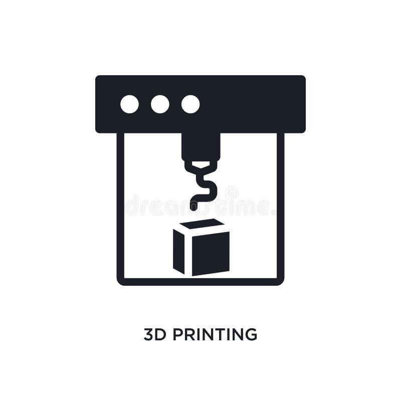 3d печатая изолированный значок простая иллюстрация элемента от значков концепции general-1 3d печатая editable дизайн символа зн иллюстрация вектора