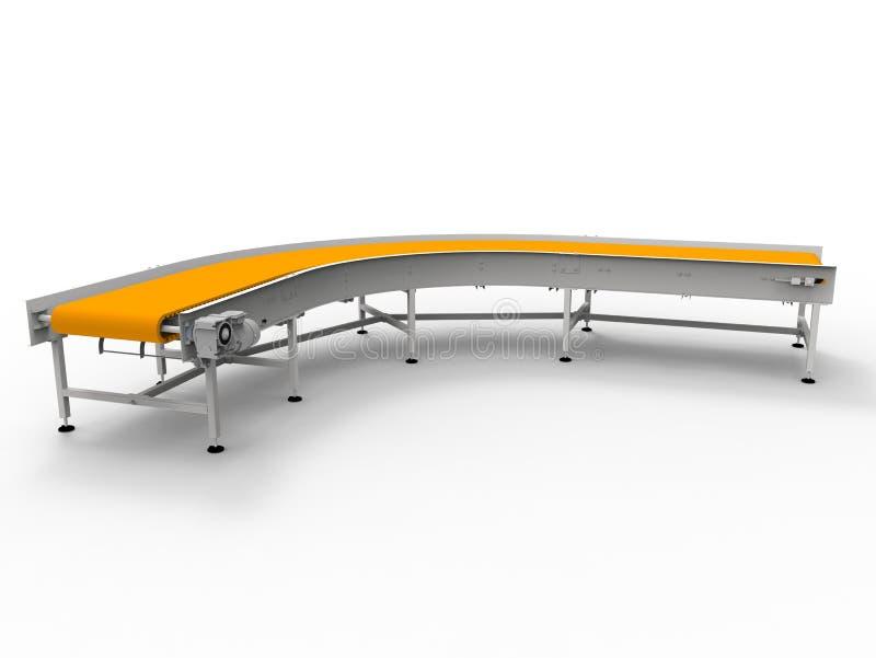 3D übertragen - gebogenes Förderband lizenzfreie abbildung