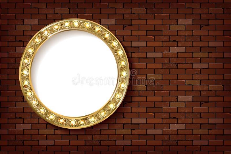 3D übertragen Kreis-Brettzeichen des Festzelts helles stock abbildung