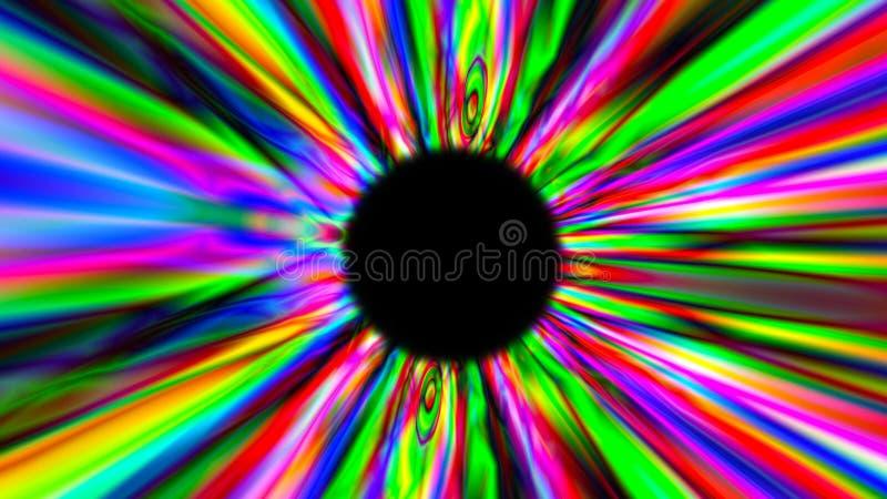 3d übertragen psychedelischen Mehrfarbentunnel Bunter abstrakter Hintergrund stock abbildung
