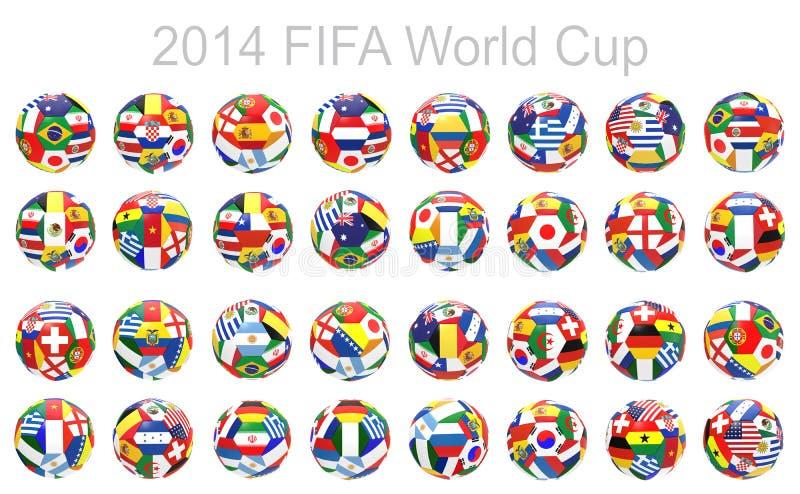 3D übertragen vom Fußball des Fußballs 32 lizenzfreie abbildung