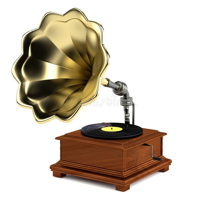 3d übertragen vom Grammophon stock abbildung