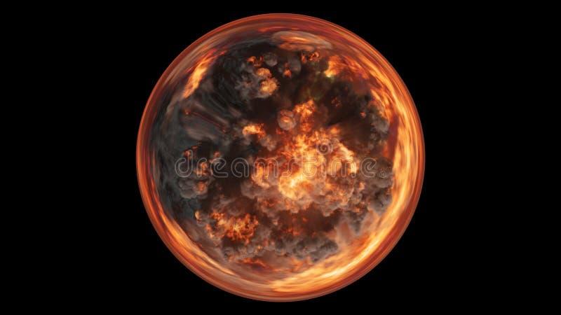 3D übertragen von bestehenden umfangreichen bunten Explosionen einer kugelförmigen Zusammensetzung vektor abbildung