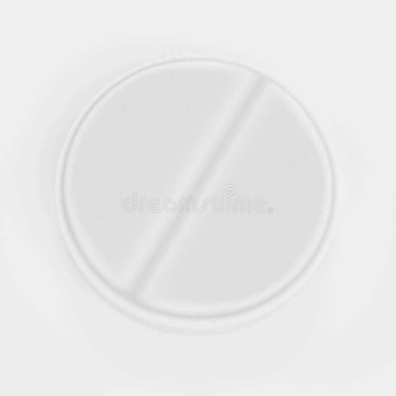 3D übertragen von der Pillen-Medizin lizenzfreie abbildung