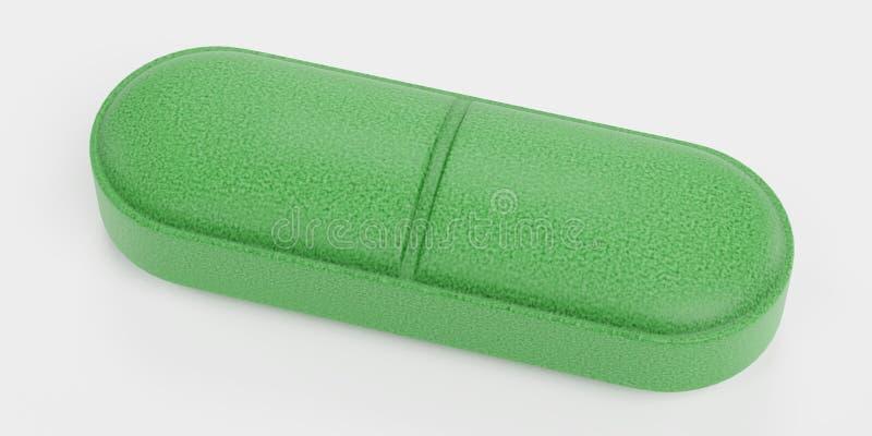 3D übertragen von der Pillen-Medizin vektor abbildung