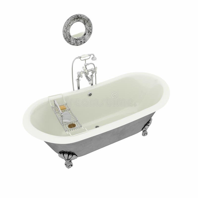 3d übertragen von der postmodern Badewanne stock abbildung