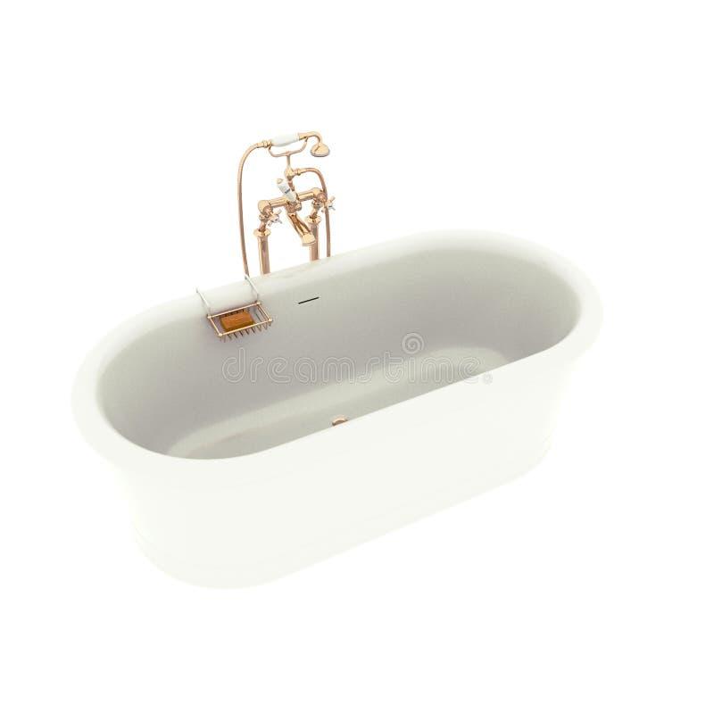 3d übertragen von der postmodern Badewanne vektor abbildung