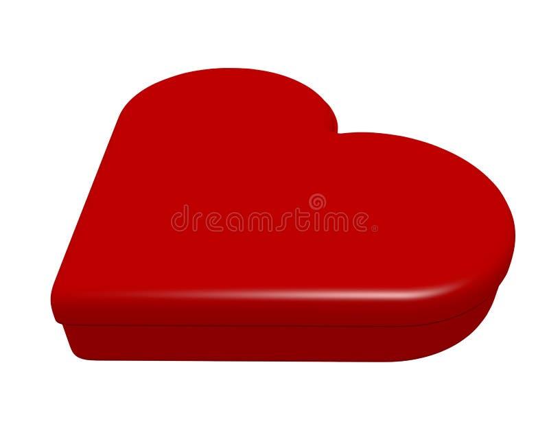 3d übertragen von einem geschlossenes Herz geformten Kasten stock abbildung
