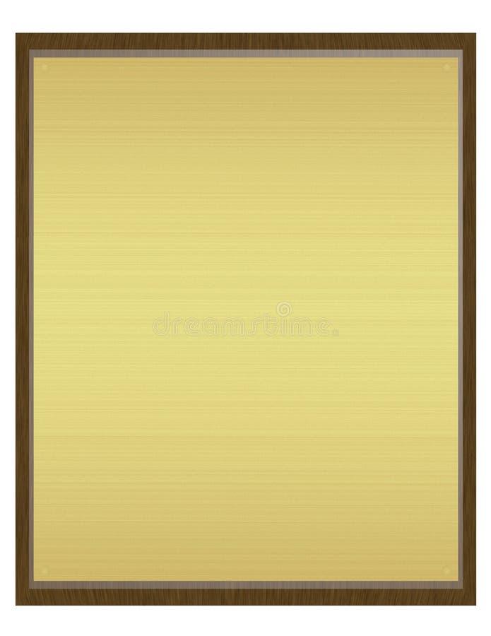 3d übertragen von einer Plakette lizenzfreie abbildung