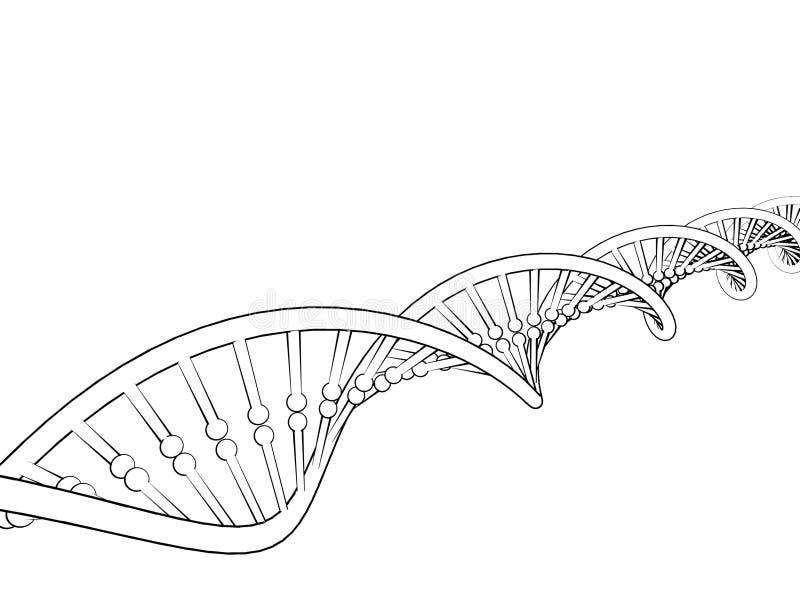 3D übertrug Bild Getrennt auf weißem Hintergrund Skizzenillustration lizenzfreie abbildung
