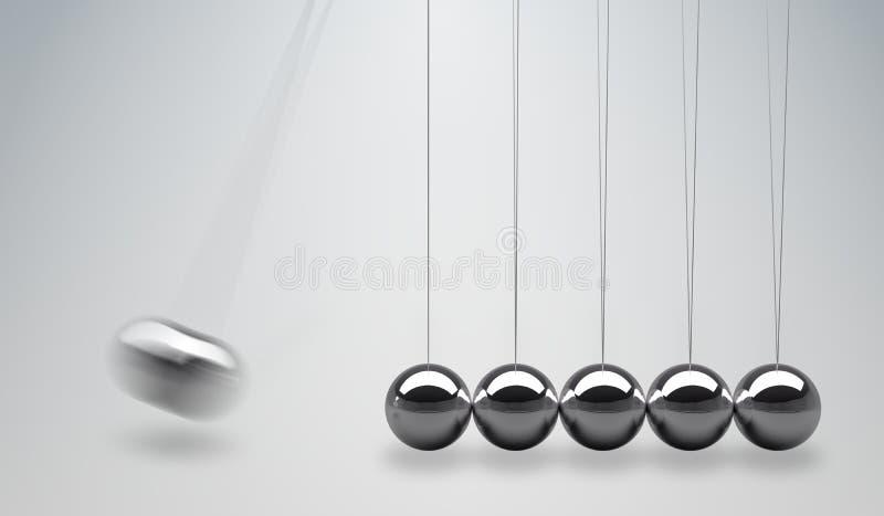 3D übertrug Illustration der Newtonwiege - balancierende Bälle vektor abbildung