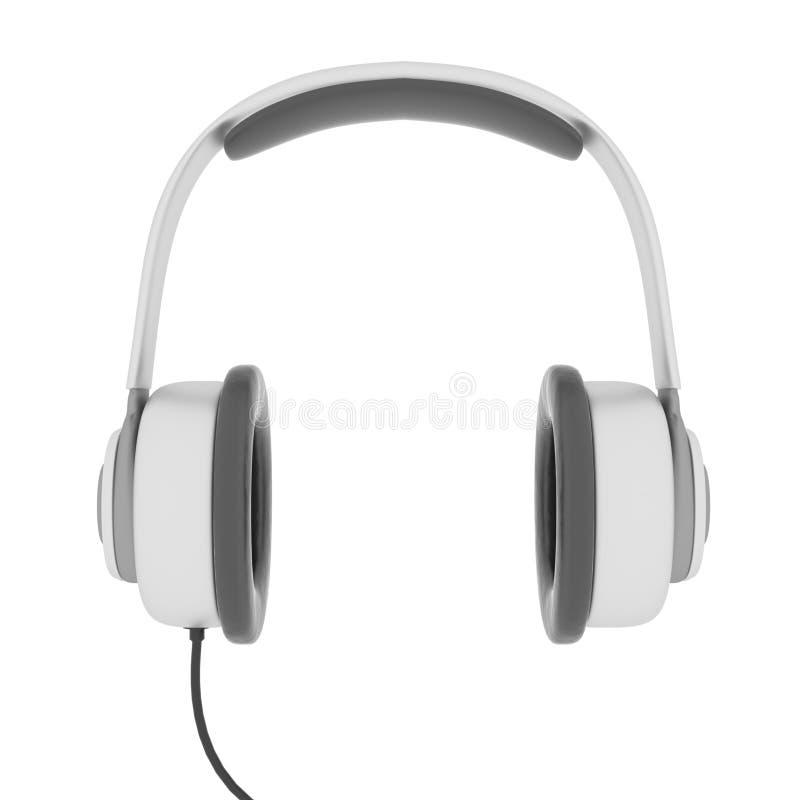3D übertrug Kopfhörer stockfotografie