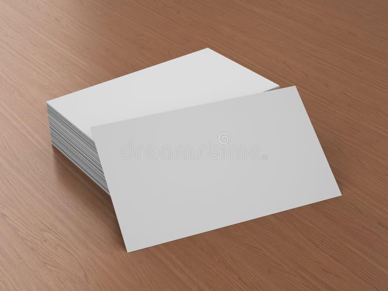 Leeres Modell der Visitenkarten stockbilder