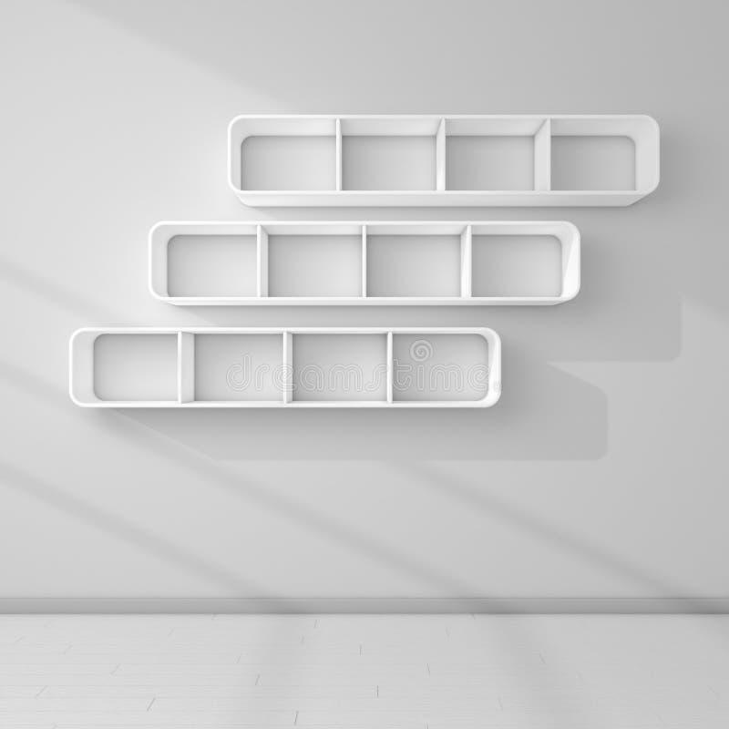 Moderne Regale 3d übertrug moderne regale stock abbildung illustration