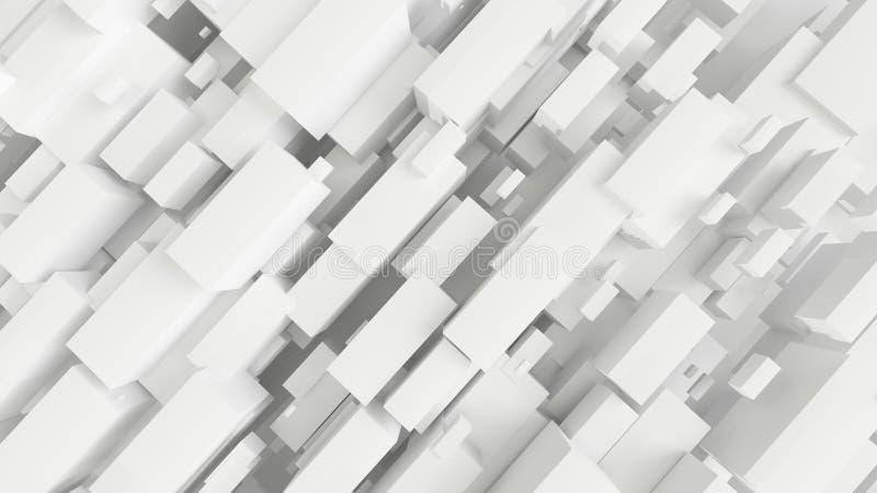 3d übertrug weißen abstrakten Architekturhintergrund stockfoto