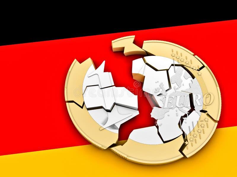 3d łamający euro royalty ilustracja