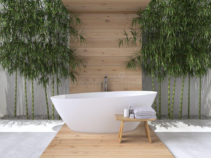 3 d łazienki obraz wnętrza świadczenia 3 d zdjęcie royalty free