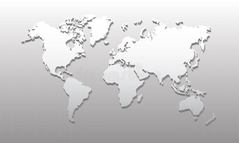 3D 01 Światowa mapa ilustracja wektor