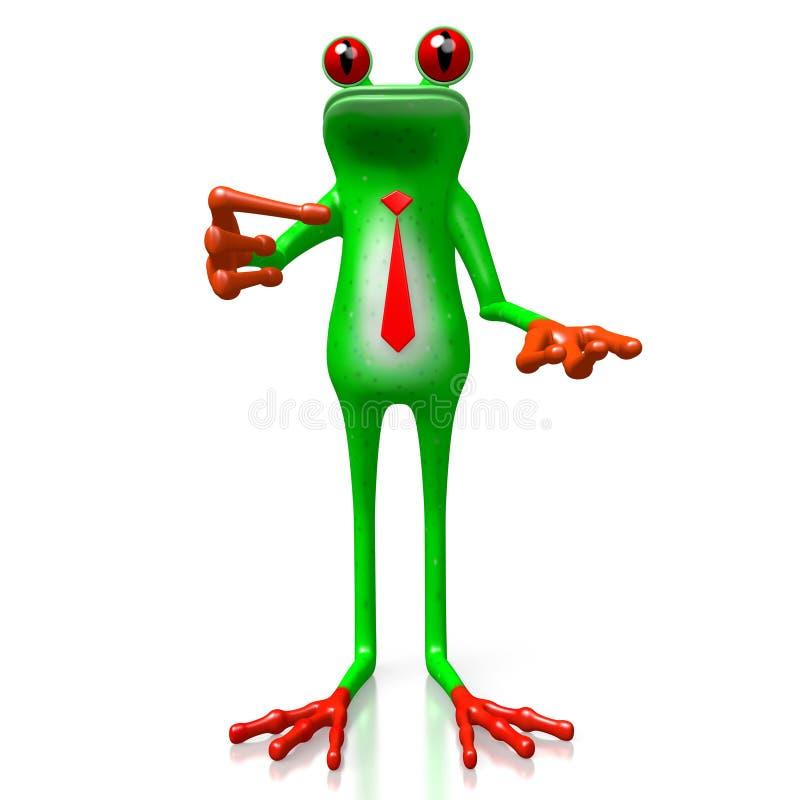 3D żaba - wskazujący z palcem ilustracji