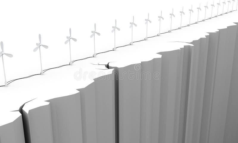 3d Ветротурбина на краю пропасти бесплатная иллюстрация
