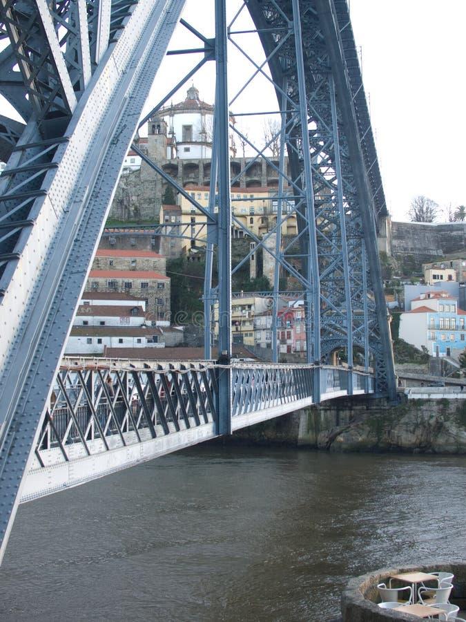d Взгляд боковой части моста строения утюга Luiz стоковое фото rf