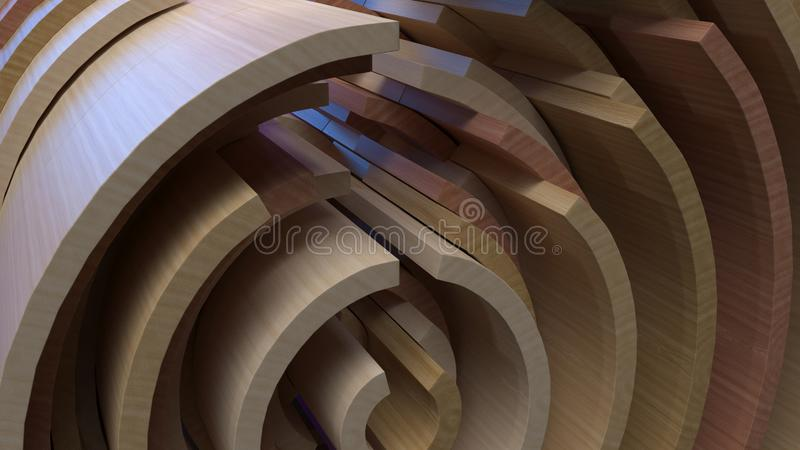 3D Геометрическая абстрактная фон стоковое изображение